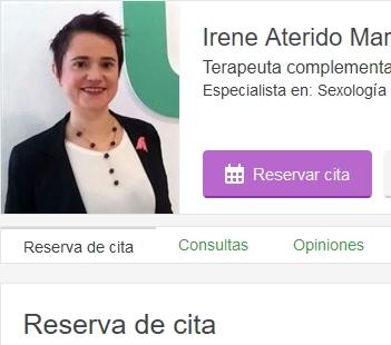 Irene Aterido terapia sexual y de pareja en Madrid
